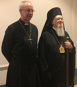 The Archbishop of Canterbury (left) alongside His All-Holiness Ecumenical Patriarch Bartholomew of Constantinople